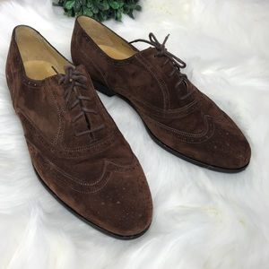 BRAGANO COLE HAAN Dress Shoes Brown Suede 10M